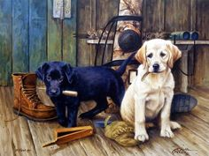 Another great hunting dog puppy print for sale--THAT'S MY PUPPY-CHOCOLATE LAB…