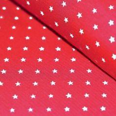 Bündchenstoff Mit Sternen Rot