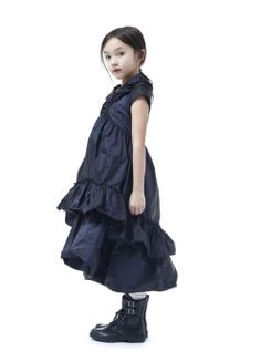 Love this Junior Gaultier girls puffy party dress with the biker boots for winter 2012 children's fashion