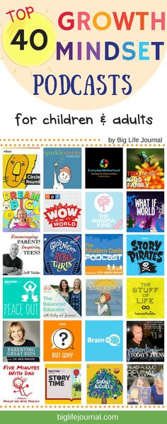 Top 40 Growth Mindset Podcasts for Kids, Teens, and Parents – big-life-journal-uk Gentle Parenting, Kids And Parenting, Parenting Hacks, Parenting Styles, Growth Mindset For Kids, Growth Mindset Book, Life Journal, Thats The Way, Social Skills