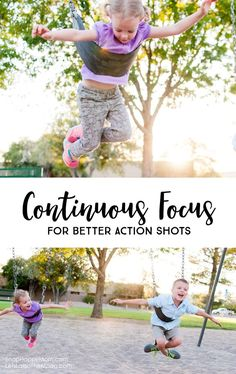 If you're like me, then you probably feel like your kids are ALWAYS moving. Taking pictures of active kids has its own unique challenges. Learn how to use continuous focusing mode to improve the action shots of your kids. *Great photography tips for parents!