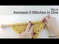 How to knit increases (Part II) - Learn to knit