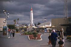 Looks like rain in the future! Tomorrowland, Disneyland, 1957.