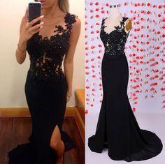 Black Mermaid Prom Dresses