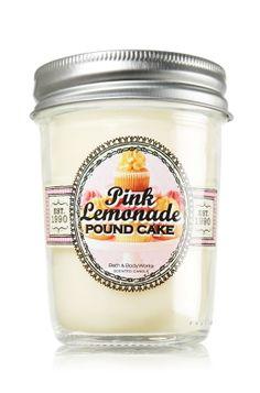 Pink Lemonade Pound Cake Mason Jar Candle - Slatkin & Co. - Bath & Body Works