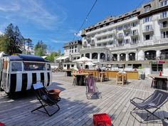Known for rollicking mountain bars, La Folie Douce has taken over the 1904 Hotel Savoy—Chamonix's sole ski-in/ski-out stay—as its debut hotel. The property's recent past as a Club Med means you'll find extensive offerings: 250 rooms both private and dorm-style, five restaurants, a kid's club, pool, and, of course, hot après action.