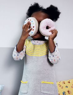I love the dress, she wants to have the donuts :-)