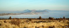 lava beds national monument images | Lava Beds National Monument: Tule Lake on a foggy morning