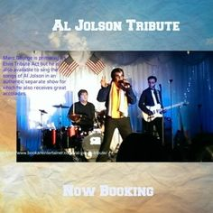 Marc George is Europe's Number 1 Al Jolson tribute singer based in South Wales. He is an authentic tribute to the world's greatest entertainer. Now booking.