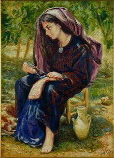 Palestinian heritage in artwork painting by Irina Karkabi