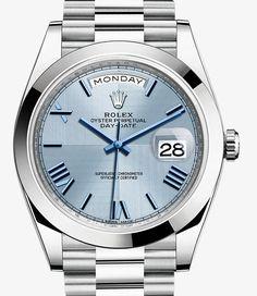 Rolex Day-Date 40 Watch: Platinum - 228206