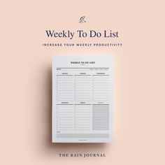 The Rain Journal Printable To Do List Planners - have a look at our huge To Do List Planner Printable library. Find daily, weekly, monthly and yearly checklist, to do list for home, school and work. These are perfect for your binders such as filofax and kikki k.  #printableplanner #planners #printables #printableplanners To Do Lists Printable, Weekly Planner Printable, Printables, Desk Stationery, Journal Diary, Office And School Supplies, Planners, Diaries, Journals