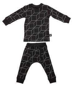 NUNUNU Black Grid Pajama Set $74.00