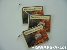 Mini History of S'mores Booklet SWAPS Kit for Girl Kids Scout makes 25