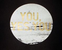 You, yes you Print | Little Paper Planes