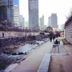 Cheonggyecheon Stream (beautiful manmade stream that flows through the middle of the city)  How to get there: You can walk there form a number of subway stations, it starts at City Hall Station