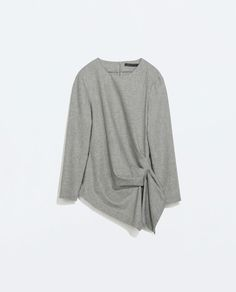 ZARA - NEW THIS WEEK - TOP WITH GATHERED SIDE