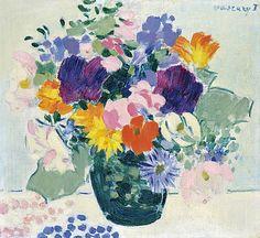 Vaszary János (1867-1939) - Still-life with flowers
