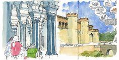 De vuelta con el cuaderno by gerard michel, via Flickr Ink Wash, Urban Sketching, Town And Country, Moorish, Cubism, Michel, Art Sketchbook, Art Quotes, Sketches