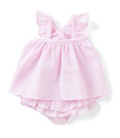 69f720bbd Edgehill Collection Baby Girls Newborn-24 Months Flutter-Sleeve Striped  Seersucker Dress Seersucker Dress