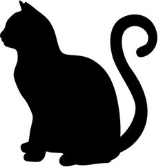 This is a free cat svg cut file created by me! I love sharing my designs with the world. These can be used with your cricut or silhouette cutting machine. You can use it for tshirt printing, sign making and other arts and crafts! Cat Template, Stencil Templates, Stencils, Rear Window Decals, Laptop Decal Stickers, Vinyl Decals, Animal Silhouette, Alley Cat, Cat Quilt