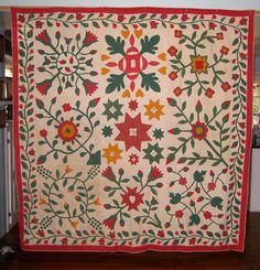 ANTIQUE ALBUM APPLIQUE QUILT, 1857, eBay, gurly46