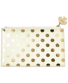 kate spade new york Gold Dots Pencil Pouch - Handbags & Accessories - Macy's