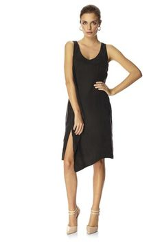 French Connection - California Drape Dress - Front view with slit