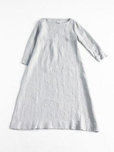 evam eva/ hemp linen dress