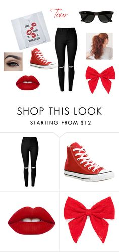 """""""outfit #7 (story)"""" by ash-237 on Polyvore featuring Converse, Lime Crime, Carole and Ray-Ban"""