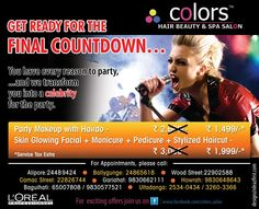 T2Ad for Colors Loreal salon