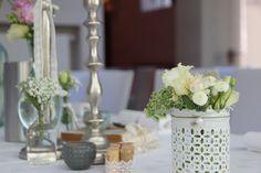♥♥♥ Tischdekoration mit Kerzenständer aus unserem Hochzeitsdeko-Verleih http://www.weddstyle.de/kerzenstaender-mieten.html