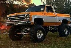 Classic Chevy  (orange & white)