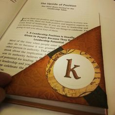 Cool corner bookmark. #kensworldinprogress