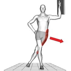 Stretch the Tensor fasciae latae (plays a role in hip flexion, Abduction and medial rotation).
