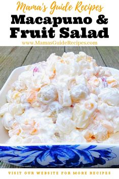 I learned this salad recipe from my Auntie. It resembles Buk. - I learned this salad recipe from my Auntie. It resembles Buko Salad but the buko is replaced by the macapuno and the salad has cream cheese too.this is so divine and delicious! Cream Cheese Fruit Salad, Fruit Salad With Cream, Salad Cream, Cream Cheese Recipes, Pinoy Dessert, Filipino Desserts, Asian Desserts, Filipino Recipes, Filipino Food