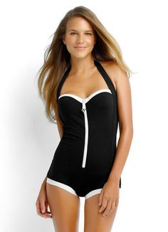 a7670a177d Seafolly Swimwear 2015  Block Party Retro Maillot  One-Piece Swimsuit