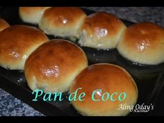 Pan de Coco is one of the most common Filipino bread for meryenda or snack. Bread with sweetened coconut filling. For ingredients and exact measurements, vis. Coconut Bread Recipe, Coconut Buns, Filipino Desserts, Filipino Recipes, Pandecoco Recipe, Halaya Recipe, Bread Recipes, Baking Recipes, Pepperoni Bread