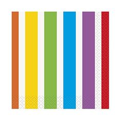 Rainbow Birthday Beverage Napkins 16 Pack  Party Supplies -- Learn more by visiting the image link.