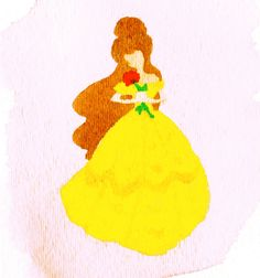 Belle, watercolor paints #watercolor #painting #disney #art