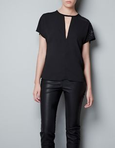 TOP WITH DETAILING ON THE SHOULDER - Shirts - Woman - ZARA