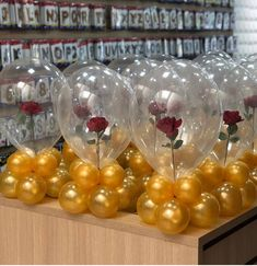I am LOVING these beauty & the beast themed balloons! How creative! Quince Decorations, Quinceanera Decorations, Balloon Decorations Party, Quinceanera Party, Birthday Party Decorations, Balloon Centerpieces, Gold Wedding Centerpieces, Birthday Parties, Beauty And Beast Birthday
