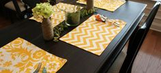 {Picnic-Style Place Mats} I rarely use place mats but these kind of make me want to start using them all the time.