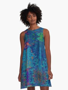 """100% Polyester woven dress fabric with silky handfeel Print covers entire front and back panel Loose swing shape for an easy, flowy fit Sublimation transfer technique prints crisp, bold colours Garment fully constructed and printed in the USA  Sizing Information XSSMLXL2XL Chest37""""39""""41""""43""""45""""47"""" Length34.5""""35.2""""36""""36.7""""37.5""""38.2""""  Sizing chart Model wears a size S Also buy this artwork on apparel, home decor, phone cases and more."""