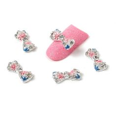 So Beauty 10pcs Bow Tie Alloy 3D Rhinestone Nail Art Tips Slice Decoration8 * To view further for this item, visit the image link. Note:It is Affiliate Link to Amazon.