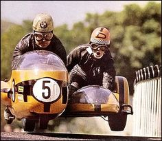 Real Roads. Vintage BMW and sidecar at IOM TT