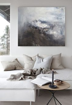 Living room ideas and inspiration in the Scandinavian style. Caught In The Storm… Living room ideas and inspiration in the Scandinavian style. Caught In The Storm_painting by Nina Holst Related lustige Bilder zum. Victorian Living Room, Living Room Modern, Home Living Room, Living Room Designs, Living Room Decor, Dining Room, Extra Large Wall Art, Piece A Vivre, Decorating Small Spaces