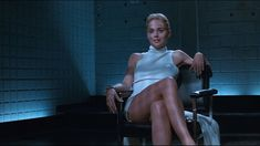 "Catherine Tramell from Basic Instinct (1992) | Not all badass female characters need to be on the good side. Catherine Tramell is one bad bitch and I mean it as a compliment. Though, manipulating and killing people is wrong, I ""love"" Catherine Tramell. Why? Because she does it so well. By the way, Sharon Stone is ""it"" in this film. She's the only actress in the world that can play ""Catherine Tramell"". Casting any other actress would just turn this classic into a lame porn (IMO)."