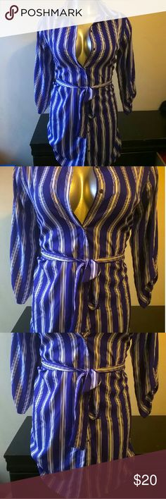 Indulge Royal Blue Long Button Up Button Up Tops Button Down Shirts
