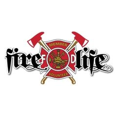 Fire Life Volunteer Firefighter Decal | Fire Life | Firefighter.com Firefighter Decals, Firefighter Gifts, Volunteer Firefighter, Fire Dept, Fire Department, Wood Burned Signs, Fire Hall, Flag Signs, Confederate Flag